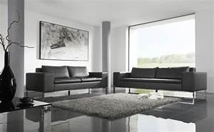 soldes canape cuir hiro design couleur gris graphit en With canapes en cuir soldes