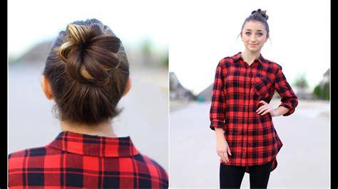 create  crown bun updo hairstyles youtube