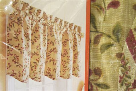 tuscan kitchen curtains valances anns home decor and more better homes and gardens tuscan retreat reversible kitchen curtain