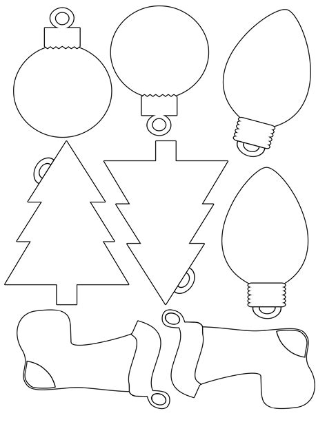 printable christmas envelope  christmas shapes