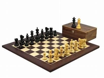 Chess Staunton Macassar Pieces Classic Ebonised Board