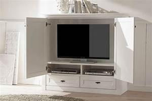 Tv Schrank Vintage : tv schrank maisonette vintage wei von wehrsdorfer m bel letz ihr online shop ~ Watch28wear.com Haus und Dekorationen