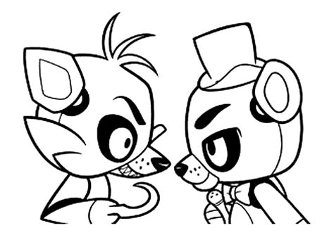 animatronics coloring pages    print