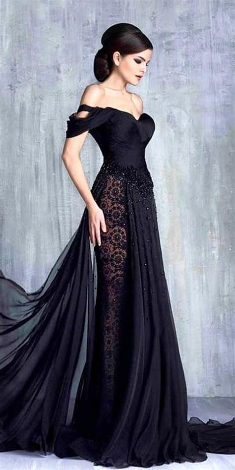 20 black wedding dresses to bring out your inner morticia
