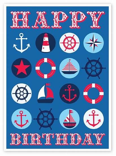 Nautical Birthday Card Themed Cards Boys Happy
