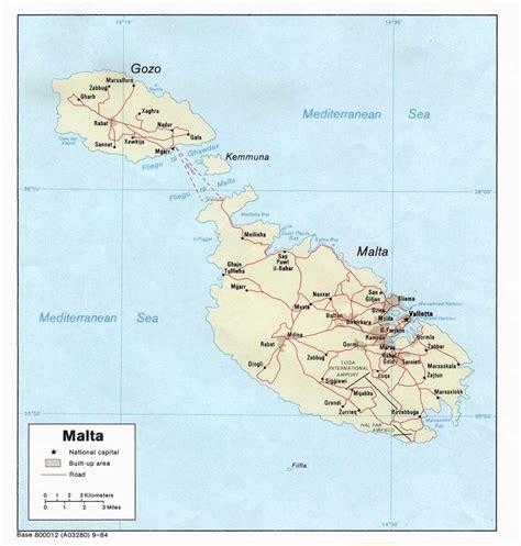 map  malta