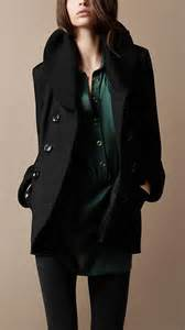 Black Burberry Coat