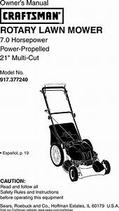 Craftsman 917377240 User Manual Rotary Mower Manuals And
