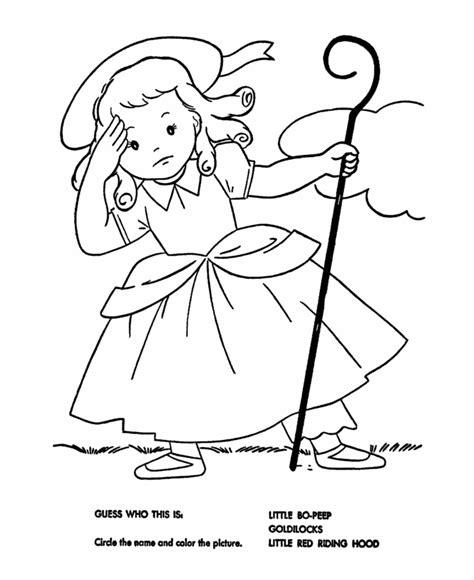 Little Bo Peep Coloring Pages - Democraciaejustica