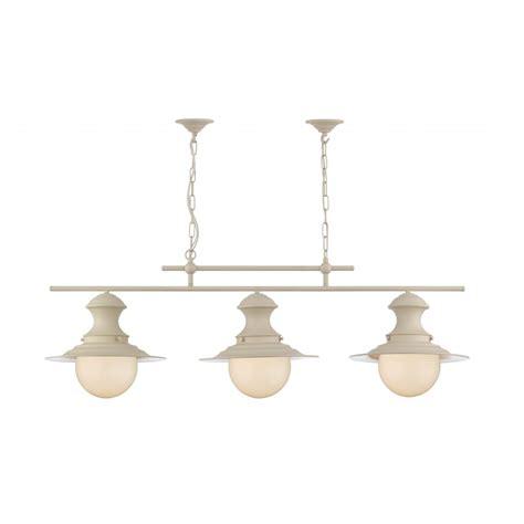 Triple Lamp by Station Lamp Triple Light Cream Pendant