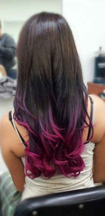 Colorful Tips Dip Dyed Hair Nails Hair And Make Up