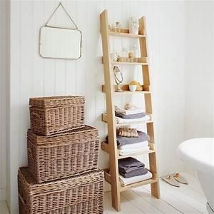 Échelle salle de bain étagère ou porte serviettes en 20 idées magnifiques