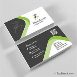 visitenkarten design physiotherapie visitenkarten design topdruck