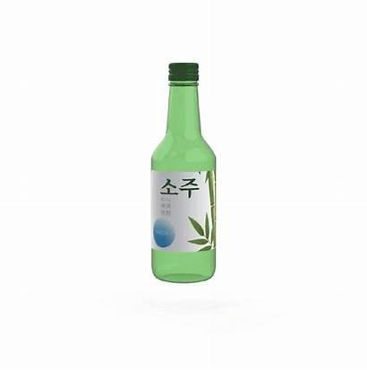 Soju Bottle 소주 Animation источник Spinning