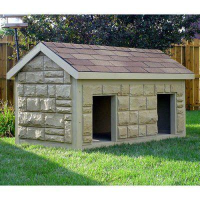 tech large duplex insulated dog house turn  house  jinger queenie pecan street