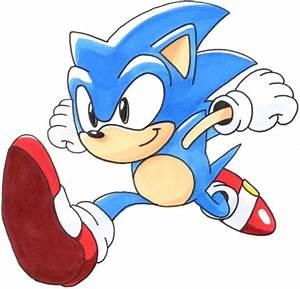 Classic Sonic: Running by SpeedTheHedgehog101 on DeviantArt