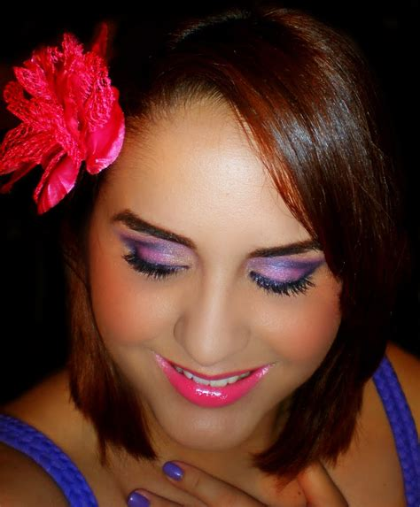 adorned faces makeup girly girl purples  pinks