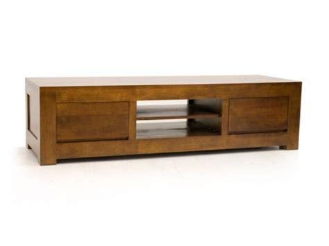 meuble tv bas en bois massif