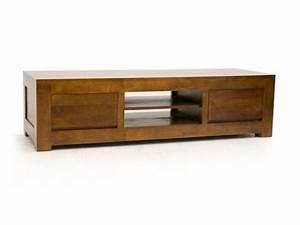 Meuble Tele En Bois : meuble tv bas en bois massif ~ Melissatoandfro.com Idées de Décoration