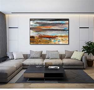 Large, Oil, Painting, On, Canvas, Abstract, Art, Modern, Yellow, Level, Acrylic, Painting, Canvas, Art, Living