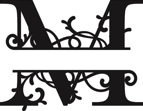 split monogram letter  dxf file   axisco