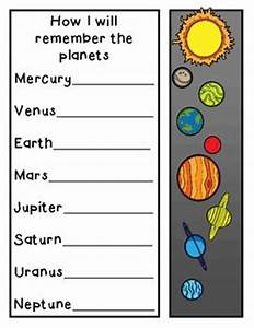Mnemonic Planets Worksheets (page 2) - Pics about space