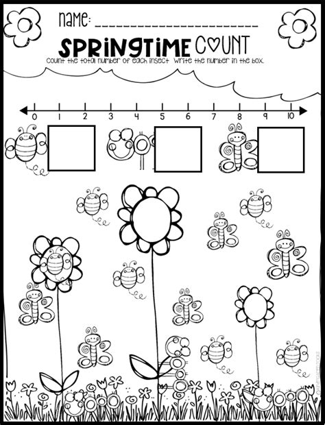Spring Math And Literacy Worksheets For Preschool  Tpt Can Teach Every Child  Preschool, Math