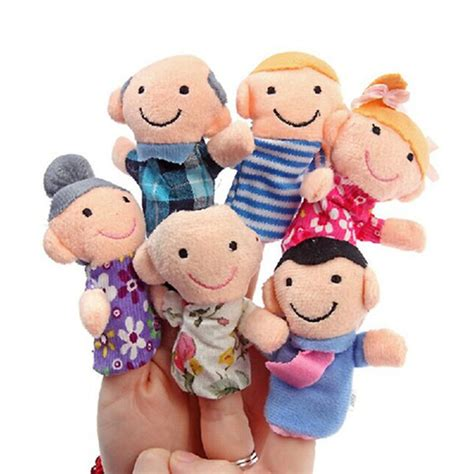 Boneka Jari Keluarga jual boneka jari keluarga family series set isi 6 di