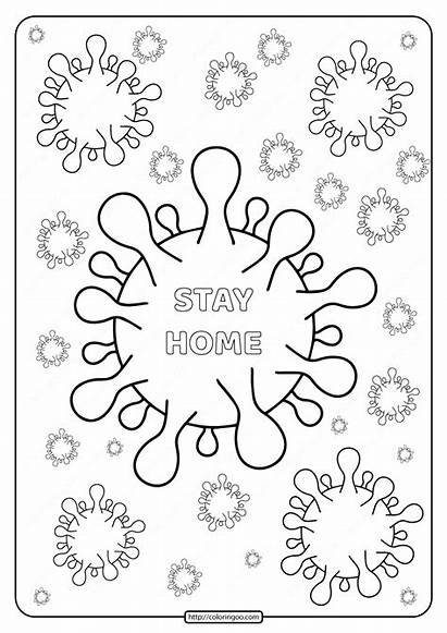Coloring Covid Coronavirus Printable Virus Xcolorings