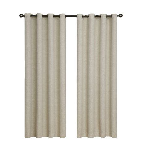 eclipse microfiber blackout navy grommet curtain panel 63