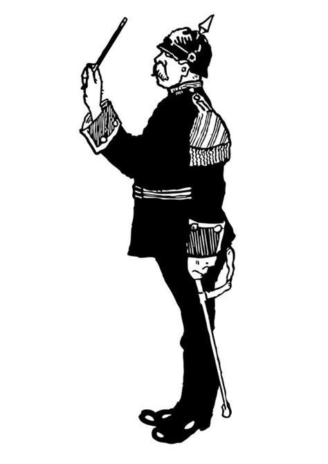 disegno da colorare maestro orchestra militare cat
