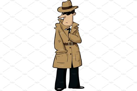 cartoon spy illustrations creative market