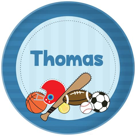 Just Sporty Personalized Plate  Kids Melamine Plates