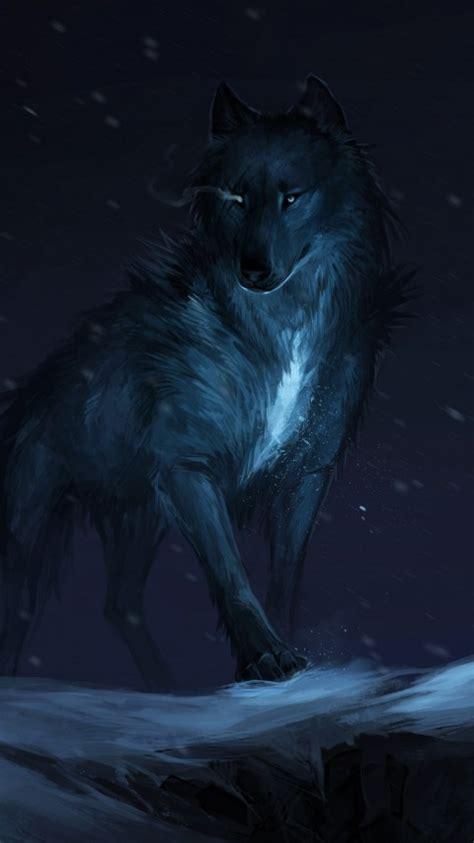 wallpaper wolf mythical dark winter  creative