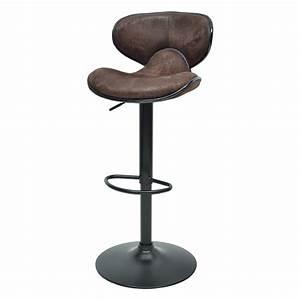 Tabouret De Bar Marron : tabouret de bar thor noir marron vintage ~ Melissatoandfro.com Idées de Décoration