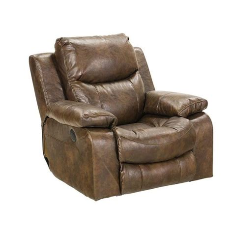 leather glider recliner with catnapper catalina leather power glider recliner in timber