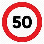Speed Sign Limit Traffic Signal Icon Clip