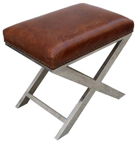 pasargad club bench genuine top grain leather