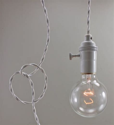 white modern bare bulb pendant light simple edison