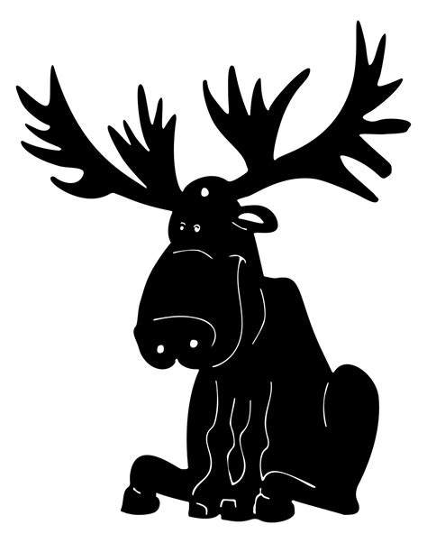Cartoon Moose Silhouette Clipart Design Droide