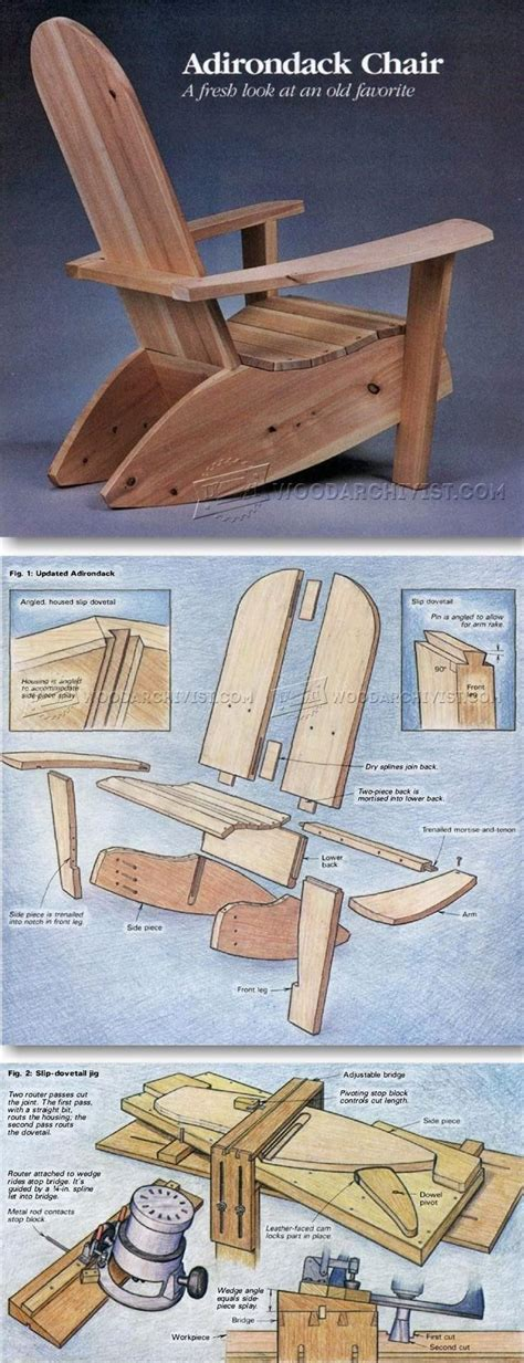 build  adirondack chair plans ideas easy