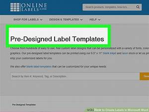 how to create labels in microsoft word with pictures With how to make product labels in word