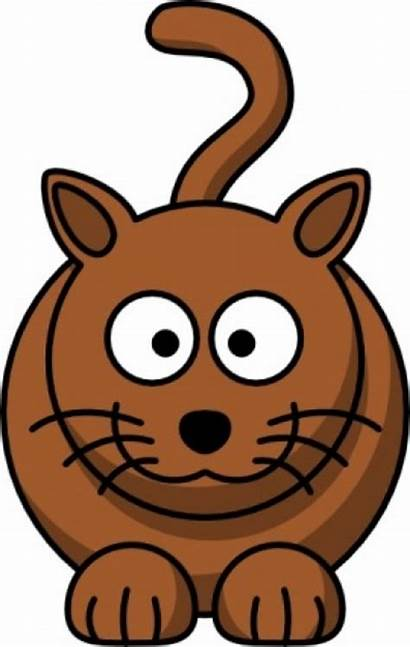 Cat Brown Clipart Cartoon Clip Clipground