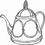 Teapot Coloring Pages Tea Cup Printable Drawing Clipart Da Disegni Clip Alice Coffee Dibujo Colorare Colouring Cucina Immagini Per Supercoloring sketch template