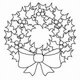 Coloring Pages Wreath Printable Wreaths Holiday Christmas Reef Holly Outline Filminspector Draw sketch template