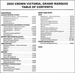 2005 Crown Victoria  U0026 Grand Marquis Repair Shop Manual