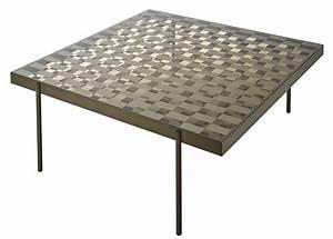 Table Basse Made Com : table basse fragment verre motif damier 104 x 104 cm damier bronze transparent glas ~ Melissatoandfro.com Idées de Décoration