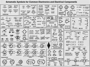 Schematic Symbols For Common Electronics And Electrical