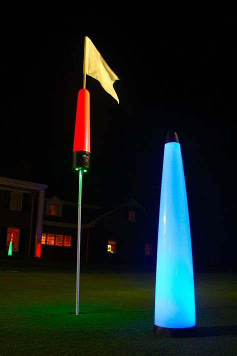 Target Lights by Flag Pin Golf Target Light Rechargeable Glowgear