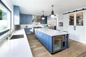 kitchen island with refrigerator island beverage fridge contemporary kitchen fitz design